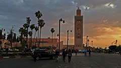 Minaret of the Koutoubia Mosque (macloo) Tags: minaret mosque morocco marrakech koutoubia jamaaelfna