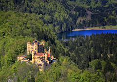 Schloss Hohenschwangau, (1 of 3) (louelke - home again) Tags: castle germany bavaria schlosshohenschwangau kingludwigii kingmaximilianii