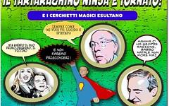 Ormai  imbarazzante e noioso seguire le gesta del mini ninjia silvio (SatiraItalia) Tags: vignette satira umorismo