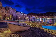 Blue Hour Cefalu, Sicily (mcalma68) Tags: longexposure seascape beach night clouds waterfront sicily bluehour cefalu