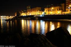 Pegli Est (Luke 7 FPS) Tags: night light long exposure longexposure longexp moon sea water black colour canon eos 550d 550 manfrotto tripod tri reflex