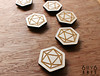 6by6Arts_d20magnets3 (thea superstarr) Tags: dungeonsanddragons icosahedron dnd d20 madeinusa lasercut laserengraved 6by6arts