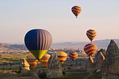 Jostling for Position (iamfisheye) Tags: turkey 2010 1454mm balloonride camera cappadocia e3 goreme kit lens olympus zd zuiko turkey2010