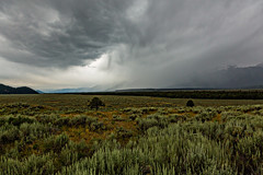 Incoming storm In Grand Teton National Park (ryotnlpm) Tags: morning sky cloud storm rain clouds landscape wyoming tetons tetonrange grandtetonnationalpark