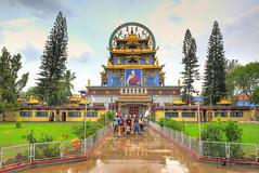 Namdroling Monastery Entrance (Darshan Karia) Tags: india karnataka hdr goldentemple namdrolingmonastery sunkadahalli