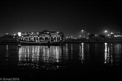 Cruising across the Creek... (EHA73) Tags: leica nightphotography travel blackandwhite bw tourism monochrome boat dubai uae streetphotography dubaicreek leicamm aposummicronm1250asph typ246