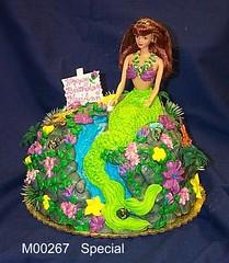 M00267 (merrittsbakery) Tags: cake shaped mermaid barbie doll toy waterfall