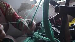 Rewind Untwine (www.WeAreHum.org) Tags: gandhi tulsi ashram school for women kathmandu nepal sowing weaving winds threads bobbins mechanical loom wood shuttles feet textile arts