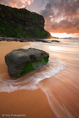 Bungan Beach, Sydney, Australia (renatonovi1) Tags: australia sunrise ocean sea sand wave bungan nsw sydney seascape water clouds landscpae flow weed northernbeaches