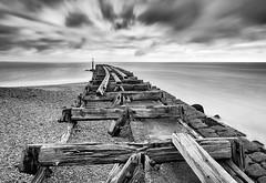 Old-Timbers (petefoto) Tags: longexposure clouds wind felixstowe timbers oldpier landguardpoint platinumheartaward bwnd110 nikond810 lee09hgrad