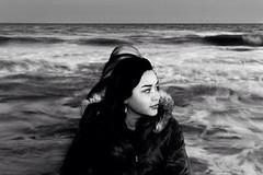 Atlantic city, Maryland (clickamericas) Tags: ocean woman usa storm peace dress maryland atlanticcity hippie bohemic