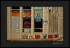 Maria's (the Gallopping Geezer 2.3 million + views....) Tags: old building sign mi canon neon michigan name ad anna