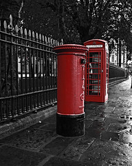 London Phone Box And Royal Mail Postal Box (Claire Doherty Photography) Tags: street old city travel red england urban colour building london english history classic tourism monument public architecture illustration writing vintage booth design cabin call technology phone mail symbol unitedkingdom box britain antique background telephone traditional culture royal kingdom landmark tourist retro stamp communication send letter british kiosk receive isolated postalservice telecommunication revival clairedoherty