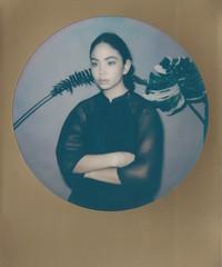 (nicolette clara iles) Tags: portrait fashion polaroid photography portraiture instant fashionportrait impossibleproject nevsmodels nicoletteclarailes roundpolaroid