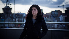 End of world? (Akiko - Made in China*) Tags: brussels sky cloud cinema girl female canon dark 50mm model shoot belgium vibrant dramatic 18 cinematic drama