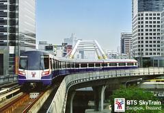 Thailand - Krung Thep - Bangkok Transit System (railasia) Tags: thailand bangkok postcard infra bts thirdrail 2013 emu4 chongnonsi silomline elevatedstructure metrosubwayunderground routenº2