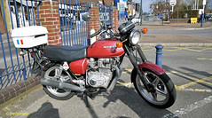 Eastleigh Honda CB400AT (davidhann34016) Tags: honda motorbike eastleigh hondamatic 400cc cb400at