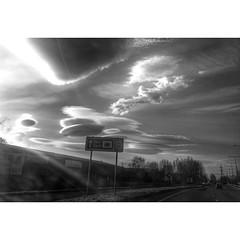 Crazy clouds (joynson83) Tags: blackandwhite wales clouds cymru bnw cloudporn flintshire northwales deeside lenticularclouds