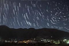 Star trails above RAJA GIRA mountain (TariQ SiddiQ kohiSTani) Tags: nature stars landscape swat startrails swatvalley saidu saidusharif