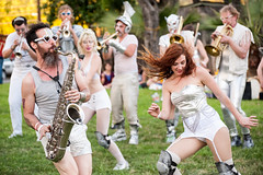 LoveBomb Go-Go (Viajante) Tags: musician music festival austin us texas unitedstates band dancer saxophone