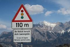 Taminatal - Avalanche traffic light (Kecko) Tags: road geotagged schweiz switzerland risk traffic suisse swiss strasse kecko ostschweiz sg svizzera verkehr ampel avalanche balen 2015 valens pfäfers lawinengefahr swissphoto taminatal lawinen gassaura geo:lon=9482801 geo:lat=46981360