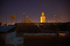 Marrakech - Maroc (samder76) Tags: longexposure night maroc marocco marrakech nuit antenne palmier riad mosque toits parabole