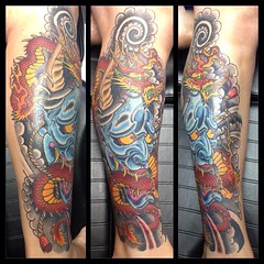 Hannya and dragon #hannya #dragon #traditional #japanesetattoo #poochart #symbeos #neotat @neotatmachines