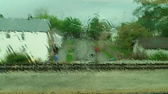 Run 12 (michael.veltman) Tags: trees houses chicago water rain train watercolor illinois tracks run neighborhood commuting metra