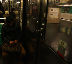 lonely (Mariasinmaas) Tags: music man paris france guy subway sadness alone sad metro tube solo lonely soledad francia