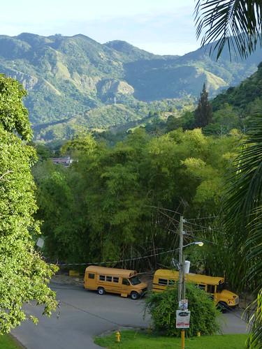 Jayuya, Hacienda Gripinas school buses