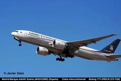 Ceiba Intercontinental  Boeing 777-2FB/LR (CS-TQX) (grupofotoaire) Tags: spain grupo boeing intercontinental adolfo comerciales ceiba suárez madridbarajas avione madlemd 7772fblr cstqx