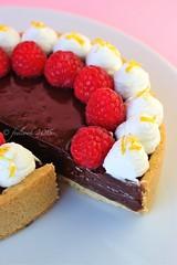 Crostata cioccolato lamponi e zenzero (FeelCook) Tags: dessert limone cioccolato panna crostata zenzero lamponi ganche