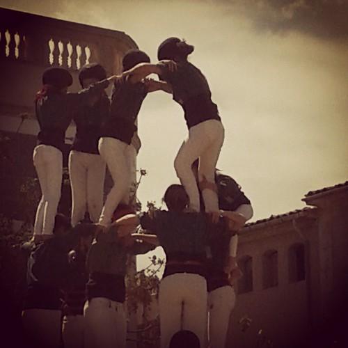 Castells muixerangueros mallorquins a Porreres #elscatalansmosvolenfurtarlaporcella