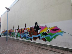 Olympic Mural (LookaroundAnne) Tags: wall mural olympics coventry