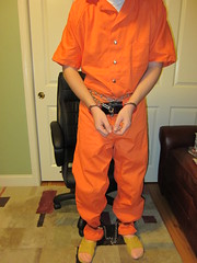 IMG_5977 (bob.laly) Tags: uniform chain jail shackles handcuffs prisoner jumpsuit inmate