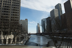 Chicago, looking away from Trump (nigeljonesphotography) Tags: bridge winter sky chicago water illinois sunny clear flowing mostlysunny nigeljonesphotography