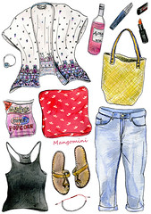 2014 August - Cindy Mangomini (Cindy Mangomini) Tags: cute dutch fashion illustration watercolor hand drawing watercolour illustrator cuteness drawn handdrawn whatiwore summerstyle personalstyle fashionillustration ootd fashiondrawing illustratedlife cindymangomini whatiworeindrawings