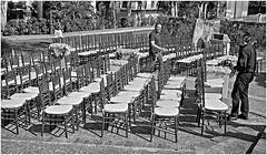 Sillas (Chairs) (Samy Collazo) Tags: leica chairs kodak oldsanjuan puertorico streetphotography sanjuan aviary viejosanjuan sillas lightroom kodaktrix400 fotografiacallejera lightroom3 epsonperfectionv500scanner niksilverefexpro2 leicalllf1951 summitar5cmf201951