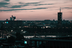 brave new belgrade (lukasenko.o) Tags: new old city bridge skyline river towers central genex belgrade ck beograd sava novi kule kapija beograda commity
