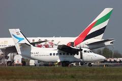 OK-LAZ-NCL-09-05-2016b (swbkcb) Tags: emirates b777 l410 citywings oklaz a6ewj