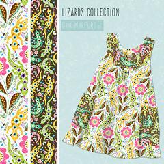 lizard-dress (Gaia Marfurt) Tags: fashion kids children pattern surface wear fabric textiledesign patterndesign spoonflower