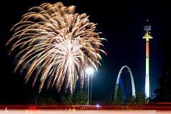 Kings Island Fireworks (Outnmbrd 521) Tags: night fireworks rides nite kingsisland