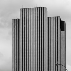 New York Architecture #286 (Ximo Michavila) Tags: york city nyc sky urban usa building lines architecture square grey day cloudy monochromatic 11 ximo archidose archdaily archiref michavilanew