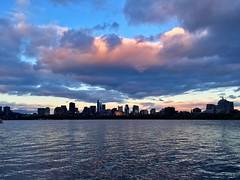 Boston at Sunset ((Jessica)) Tags: cambridge sunset sky weather boston clouds massachusetts charlesriver newengland pw