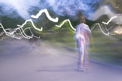 Skate boarder, Boston Common (Ian@NZFlickr) Tags: usa motion boston night movement skateboard common skateboarder
