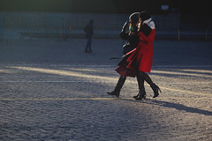 Winter Light (Ktoine) Tags: street light red russia pavement moscow candid heels