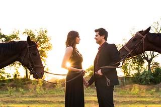 Rahul & Rupali at the sunset.