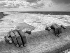 stand by me (martina.stang) Tags: ocean sea beach movie hands waves surreal climbing hanging specialeffects standbyme stevenking stuntgirl surrealstories