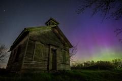 Northern Lights Southern Michigan (Tom Hughes Photo) Tags: county canon michigan aurora schoolhouse northernlights macomb thorington tokina1116
