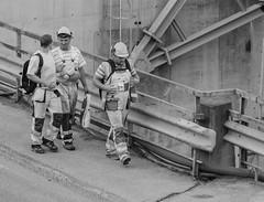 Bridge builders (AstridWestvang) Tags: bridge people industry construction dam farris larvik concretecement